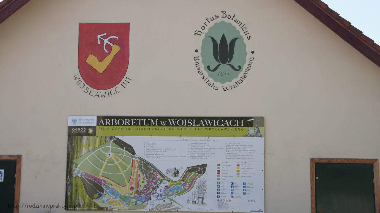 Arboretum - tablica informacyjna